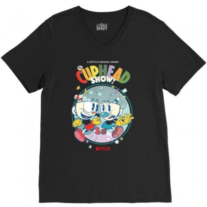 The Cuphead Show V-neck Tee Designed By Vanitty