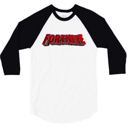 Fortnite License Plate 3/4 Sleeve Shirt Designed By Tiococacola