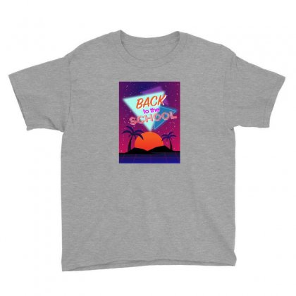 Back To The School Palm Youth Tee Designed By Bigdlab