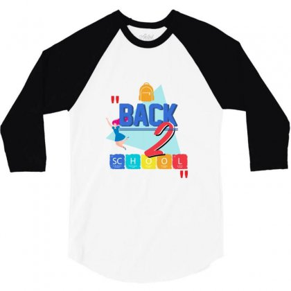 Back To School Two Grade 3/4 Sleeve Shirt Designed By Bigdlab