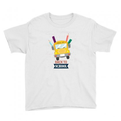 Back To School School Bus Youth Tee Designed By Akin