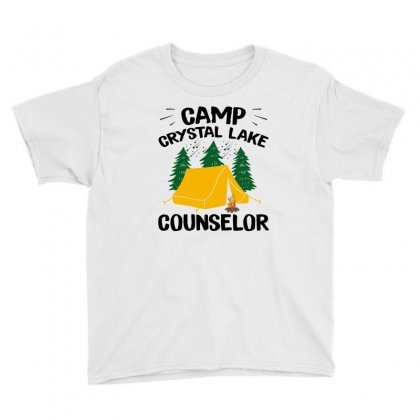 Camp Crystal Lake Counselor Youth Tee Designed By Seniha