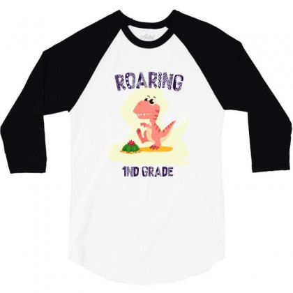 Back To School Dinosaurs 3/4 Sleeve Shirt Designed By Akin