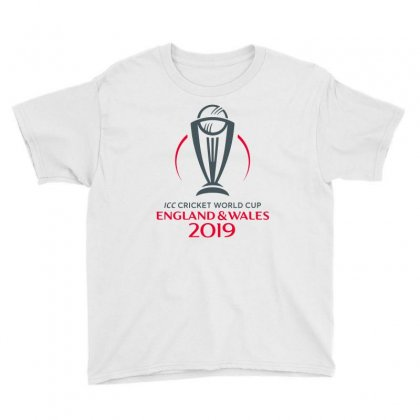 Icc Cricket World Cup England&wales 2019 Logo Youth Tee Designed By Cuser1898