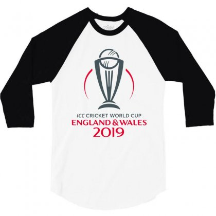 Icc Cricket World Cup England&wales 2019 Logo 3/4 Sleeve Shirt Designed By Cuser1898