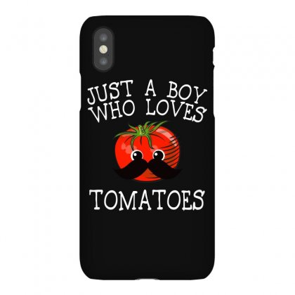 Just A Boy Who Loves Tomatoes For Dark Iphonex Case Designed By Sengul