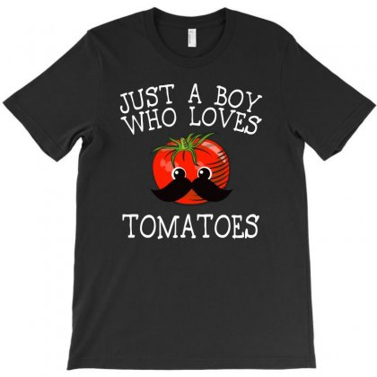 Just A Boy Who Loves Tomatoes For Dark T-shirt Designed By Sengul