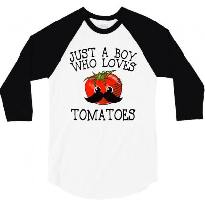 Just A Boy Who Loves Tomatoes For Light 3/4 Sleeve Shirt Designed By Sengul