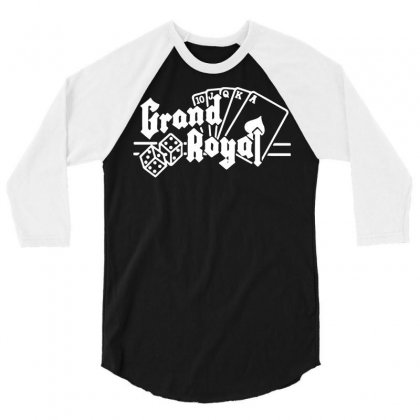 Grand Royal Record Label1 3/4 Sleeve Shirt Designed By Funtee