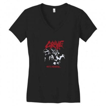 Grave You'll Never See Women's V-neck T-shirt Designed By Funtee