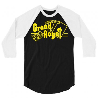Grand Royal Record Label3 3/4 Sleeve Shirt Designed By Funtee