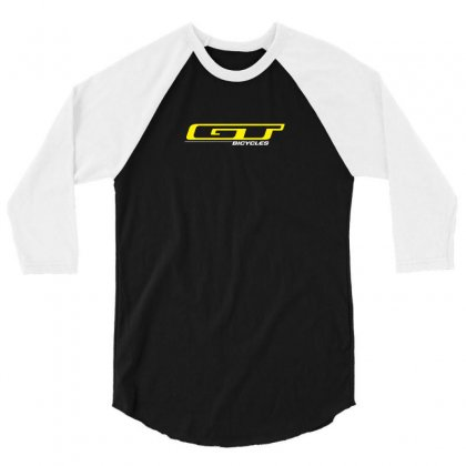 Gt Bicycle Bmx 3/4 Sleeve Shirt Designed By Funtee