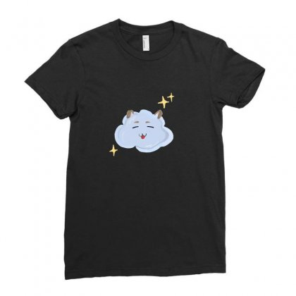 Cloudy Ladies Fitted T-shirt Designed By Dana