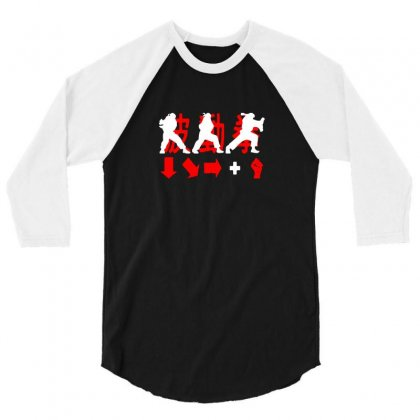 Hadouken Ryu Game Combination Street Fighter 3/4 Sleeve Shirt Designed By Funtee