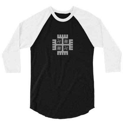 Hands Of God 3/4 Sleeve Shirt Designed By Funtee