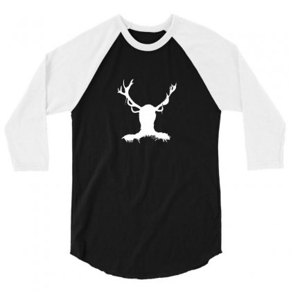 Hannibal   Stag 3/4 Sleeve Shirt Designed By Funtee