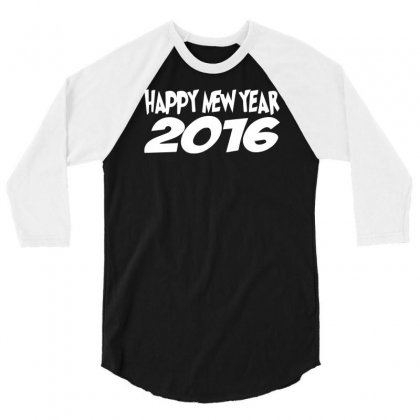 Happy New Year 2016 Christmas Party 3/4 Sleeve Shirt Designed By Funtee