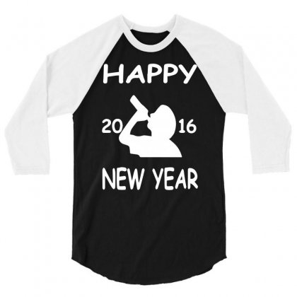 Happy New Year 2016 3/4 Sleeve Shirt Designed By Funtee