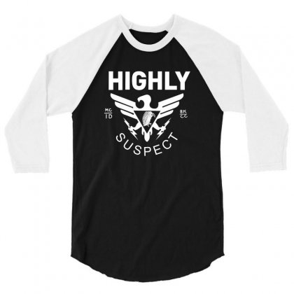 Highly Suspect Logo Cover 3/4 Sleeve Shirt Designed By Ismi