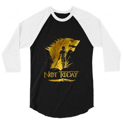 Golden Not Today Game Of Thrones 3/4 Sleeve Shirt Designed By Balqis Tees