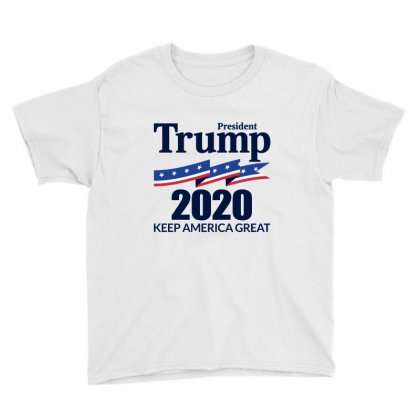 President Trump 2020   Keep America Great Youth Tee Designed By Fejena