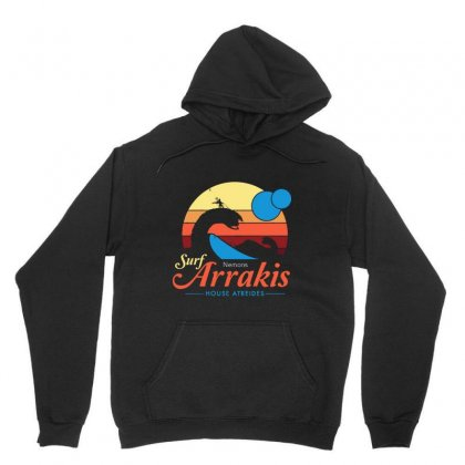 Visit Arrakis   Vintage Distressed Surf Unisex Hoodie Designed By Fejena