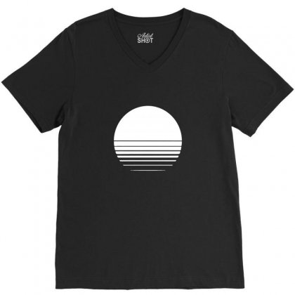 The Geometry Of Sunrise V-neck Tee Designed By Willo