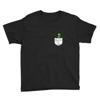 Pocket Cool Pickle Youth Tee Designed By Balqis Tees