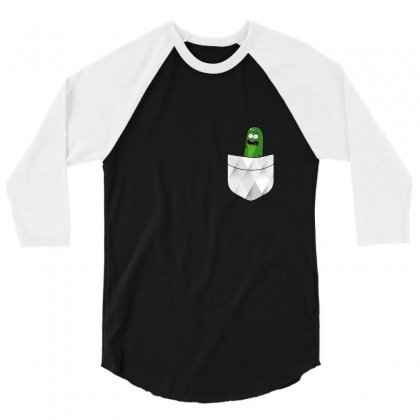 Pocket Cool Pickle 3/4 Sleeve Shirt Designed By Balqis Tees