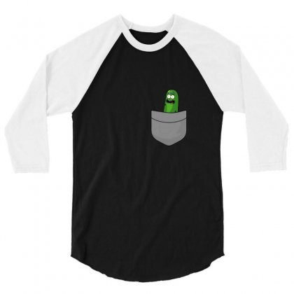 Pickle Pocket 3/4 Sleeve Shirt Designed By Balqis Tees