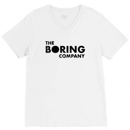 The Boring Company V-neck Tee Designed By Balqis Tees