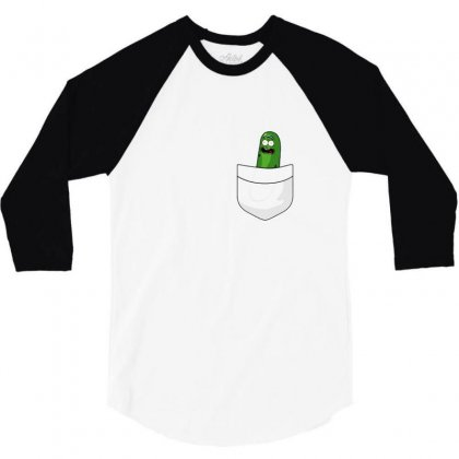 Pocket Pickle 3/4 Sleeve Shirt Designed By Balqis Tees