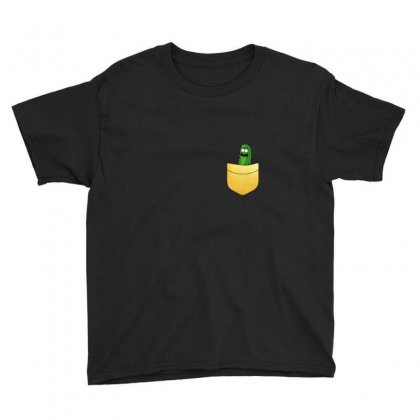 Pocket Gold Pickle Youth Tee Designed By Balqis Tees