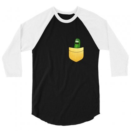 Pocket Gold Pickle 3/4 Sleeve Shirt Designed By Balqis Tees