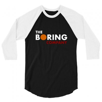 The Boring Company Elon Musk 3/4 Sleeve Shirt Designed By Balqis Tees