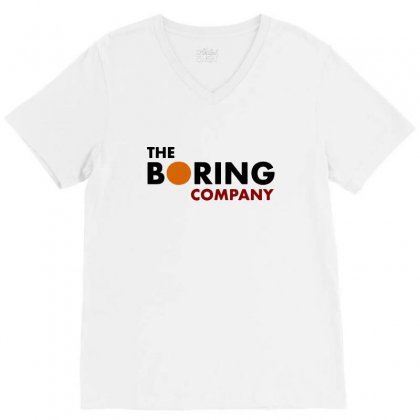 The Boring Company Elon Musk V-neck Tee Designed By Balqis Tees