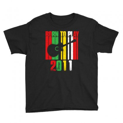 Born To Play Guitar 2011 T Shirt Youth Tee Designed By Hung