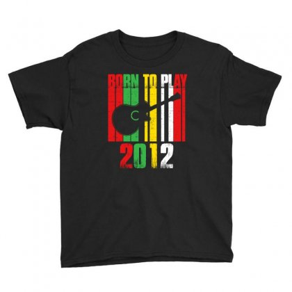 Born To Play Guitar 2012 T Shirt Youth Tee Designed By Hung