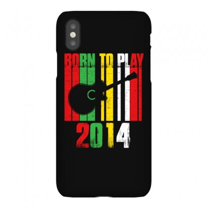 Born To Play Guitar 2014 T Shirt Iphonex Case Designed By Hung