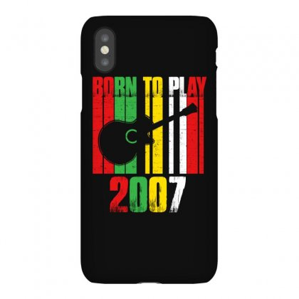 Born To Play Guitar 2007 T Shirt Iphonex Case Designed By Hung