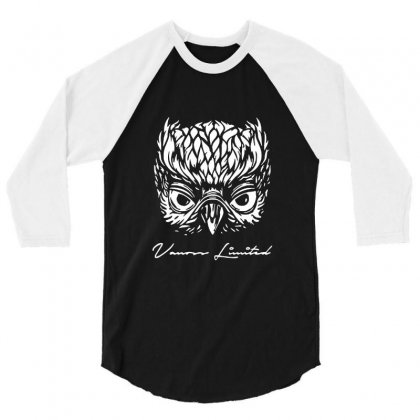 Vanoss Limited White Owl 3/4 Sleeve Shirt Designed By Balqis Tees