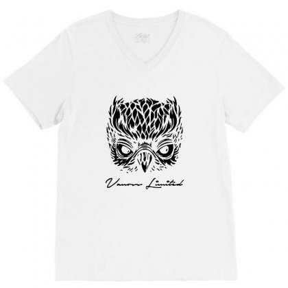 Vanoss Limited Edition Black Owl V-neck Tee Designed By Balqis Tees
