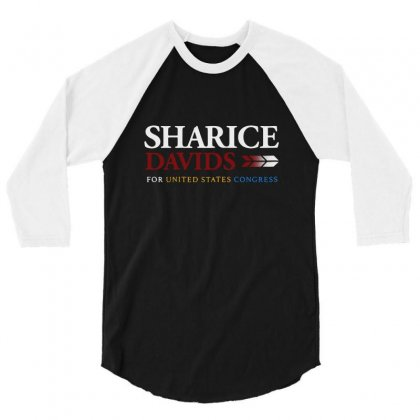 Sharice Davids For United States Congress 3/4 Sleeve Shirt Designed By Balqis Tees