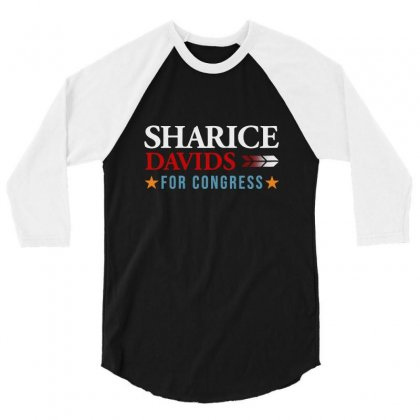 Sharice Davids For The  Congress 3/4 Sleeve Shirt Designed By Balqis Tees