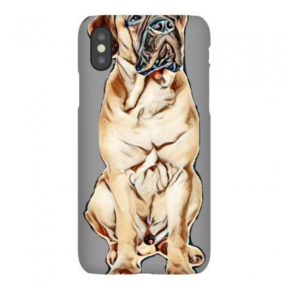 Red Puppy Bullmastiff Sitting On A White Background, Isolated. Dog 7 M Iphonex Case Designed By Kemnabi