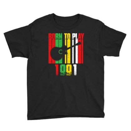 Born To Play Guitar 1991 T Shirt Youth Tee Designed By Hung