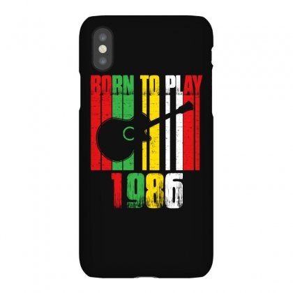 Born To Play Guitar 1986 T Shirt Iphonex Case Designed By Hung