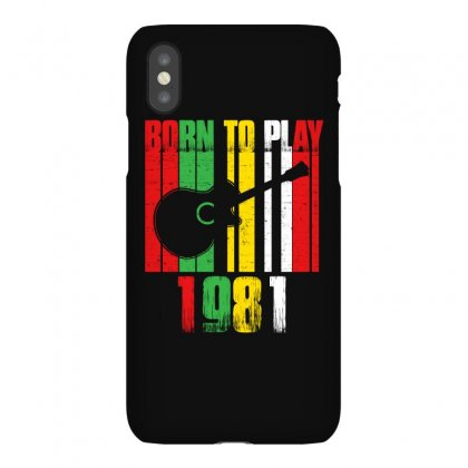 Born To Play Guitar 1981 T Shirt Iphonex Case Designed By Hung
