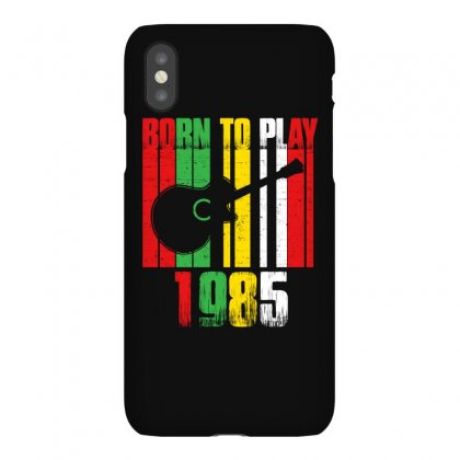 Born To Play Guitar 1985 T Shirt Iphonex Case Designed By Hung