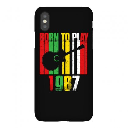 Born To Play Guitar 1987 T Shirt Iphonex Case Designed By Hung